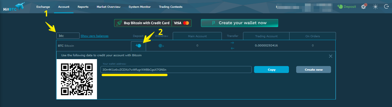 Crypto bots for HitBTC – How to deposit fiat currency to the exchange