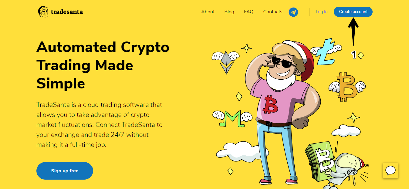 Crypto trading bots for Binance, Bittrex, Bitfinex, HitBTC. TradeSanta crypto platform