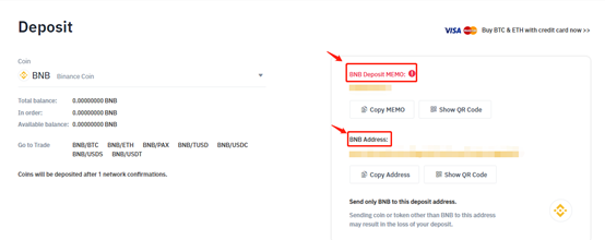 Binance deposits for crypto bots trading